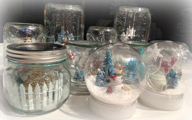 Image result for diy Waterless snow globe