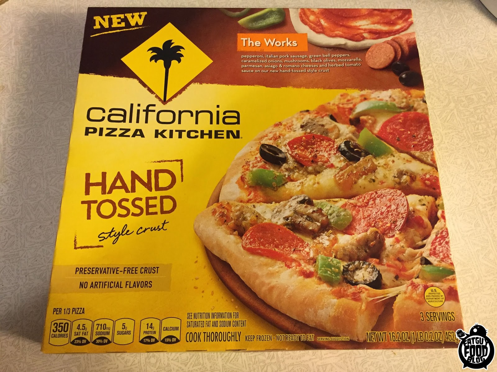 delightful California Pizza Kitchen Gluten Free #10: FATGUYFOODBLOG: California Pizza Kitchen New Flavors! The Works .