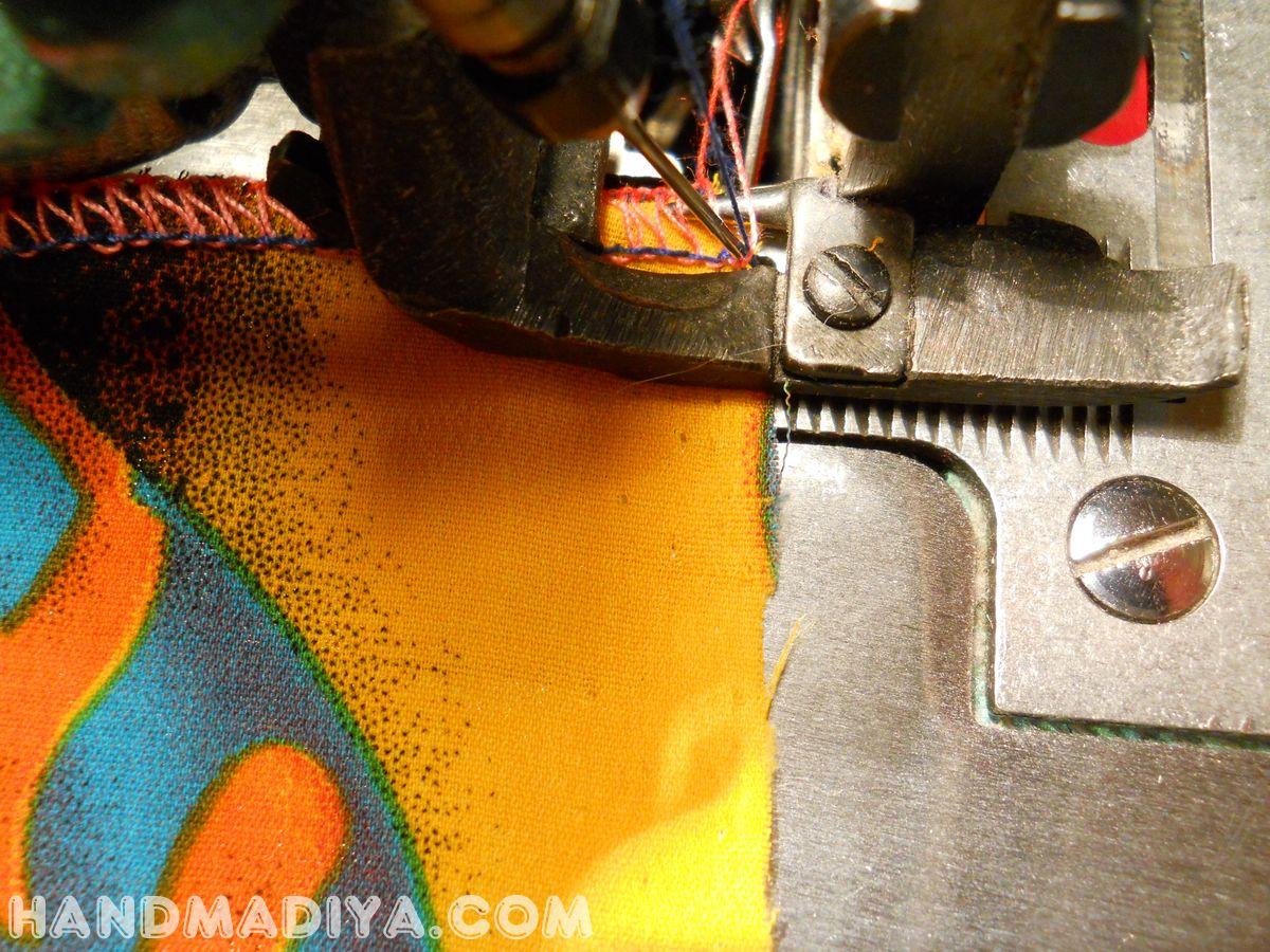 Как обработать углы на оверлоке