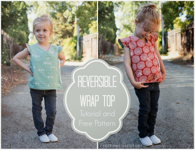 Wrap top free sewing pattern
