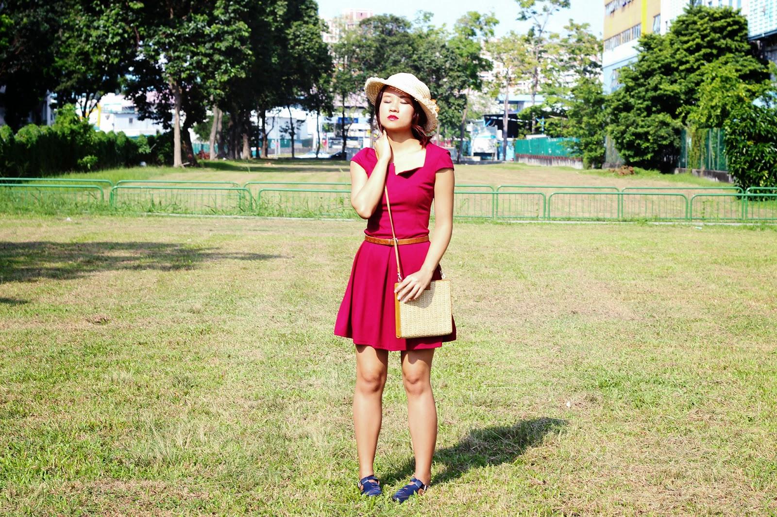 how to wear a basic dress - boho style
