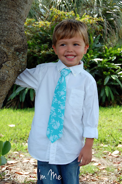 Because I'm Me boys turquoise necktie, just what's needed for spring, summer, Easter, and, of course, weddings.