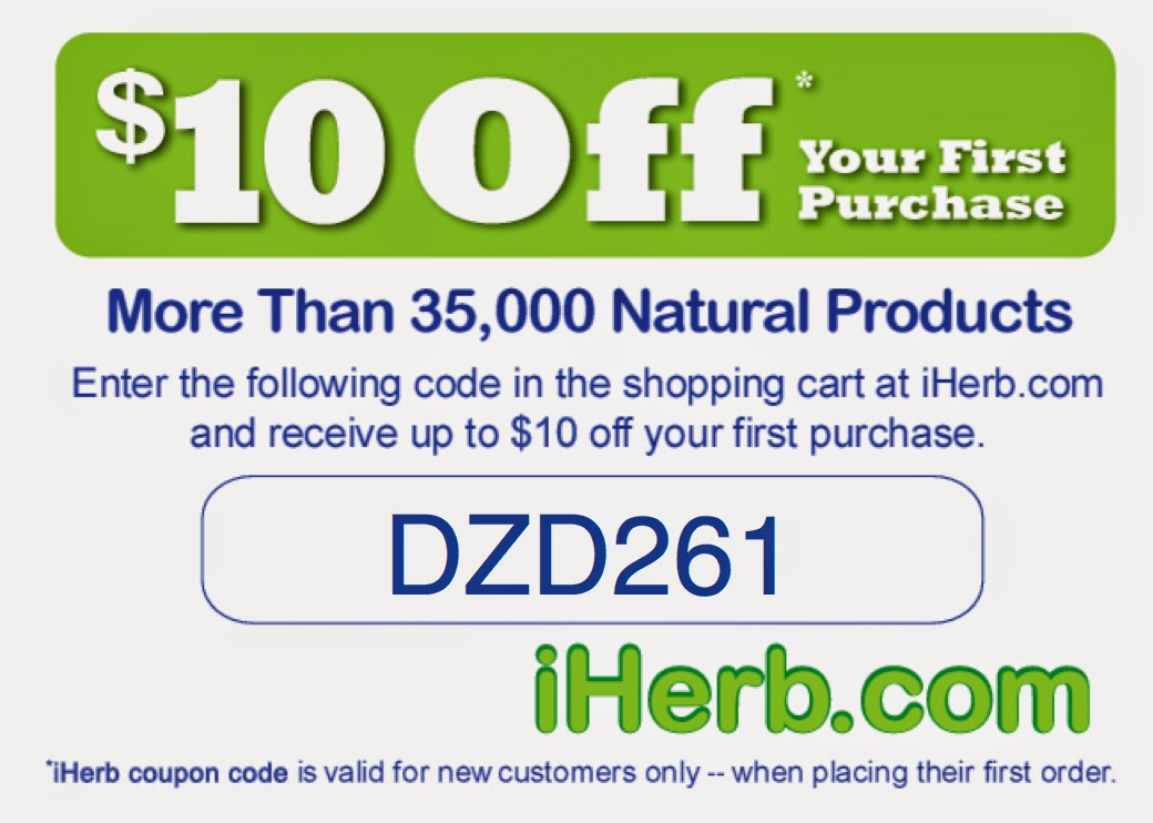 Get $10 off your first purchase at iherb