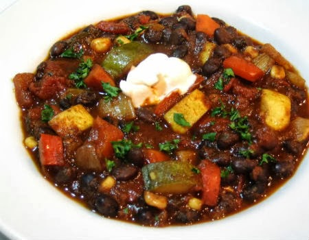 One Perfect Bite: Vegetable and Black Bean Chili