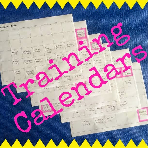 Training Calendars for a Marathon
