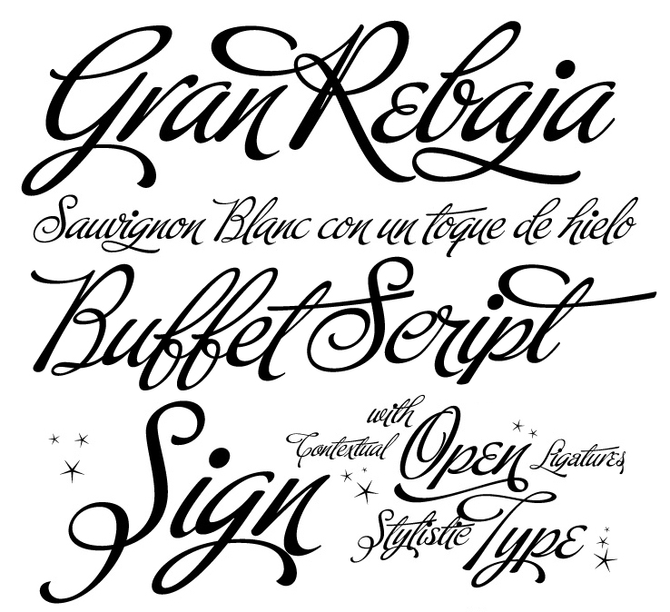 new calligraphy fonts that