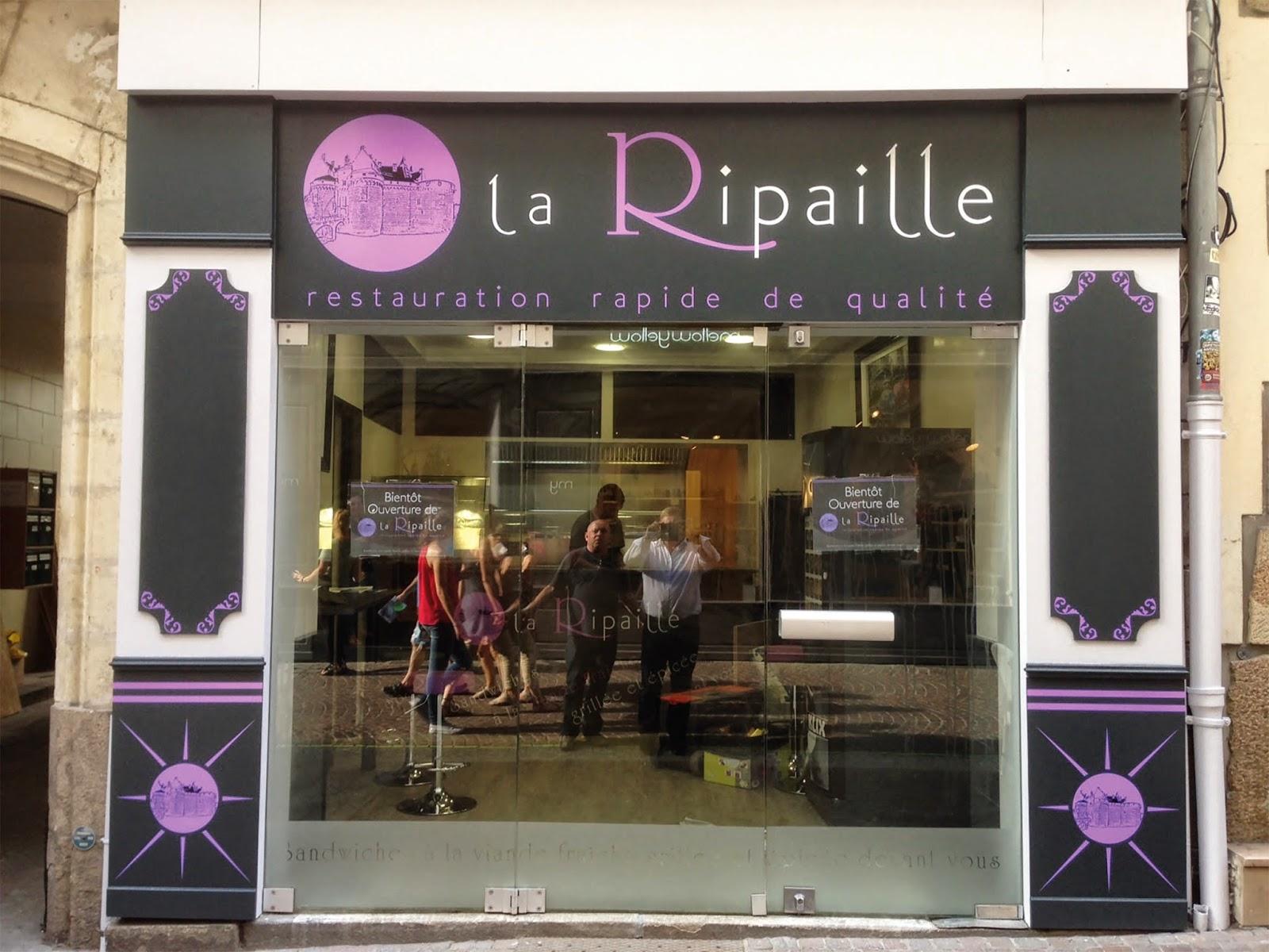 Création par Label communication de la vitrine de la Sandwicherie pour une restauration rapide de qualité sur Nantes