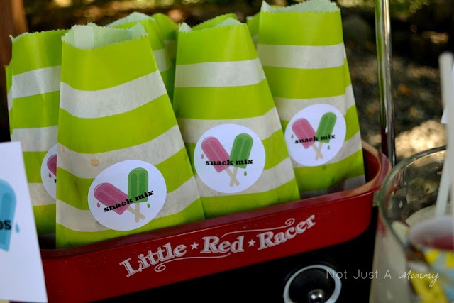 Pop Up Popsicle Party snack bags