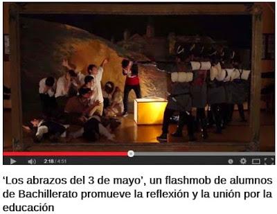 http://www.educaciontrespuntocero.com/experiencias/hablanlosprofes/los-abrazos-del-3-de-mayo-un-flashmob-de-alumnos-de-bachillerato-promueve-la-reflexion-y-la-union-por-la-educacion/25917.html