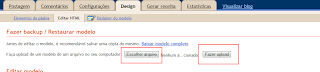 como colocar template no blogger