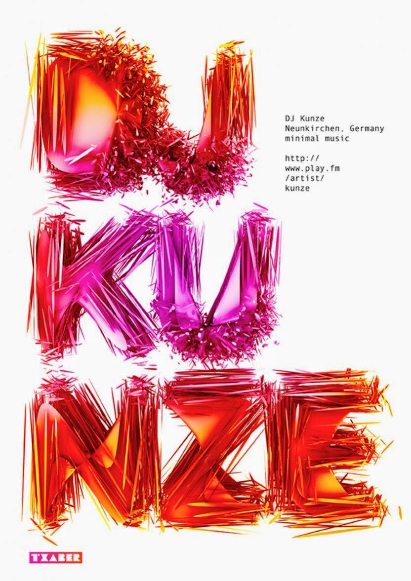Txaber Typography - Dj Kunze
