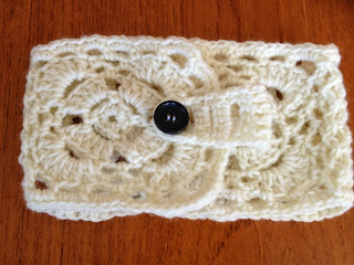 crochet woman's headband and ear warmer