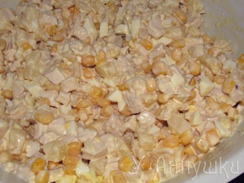 Салат из яиц кукурузы рецепты с фото