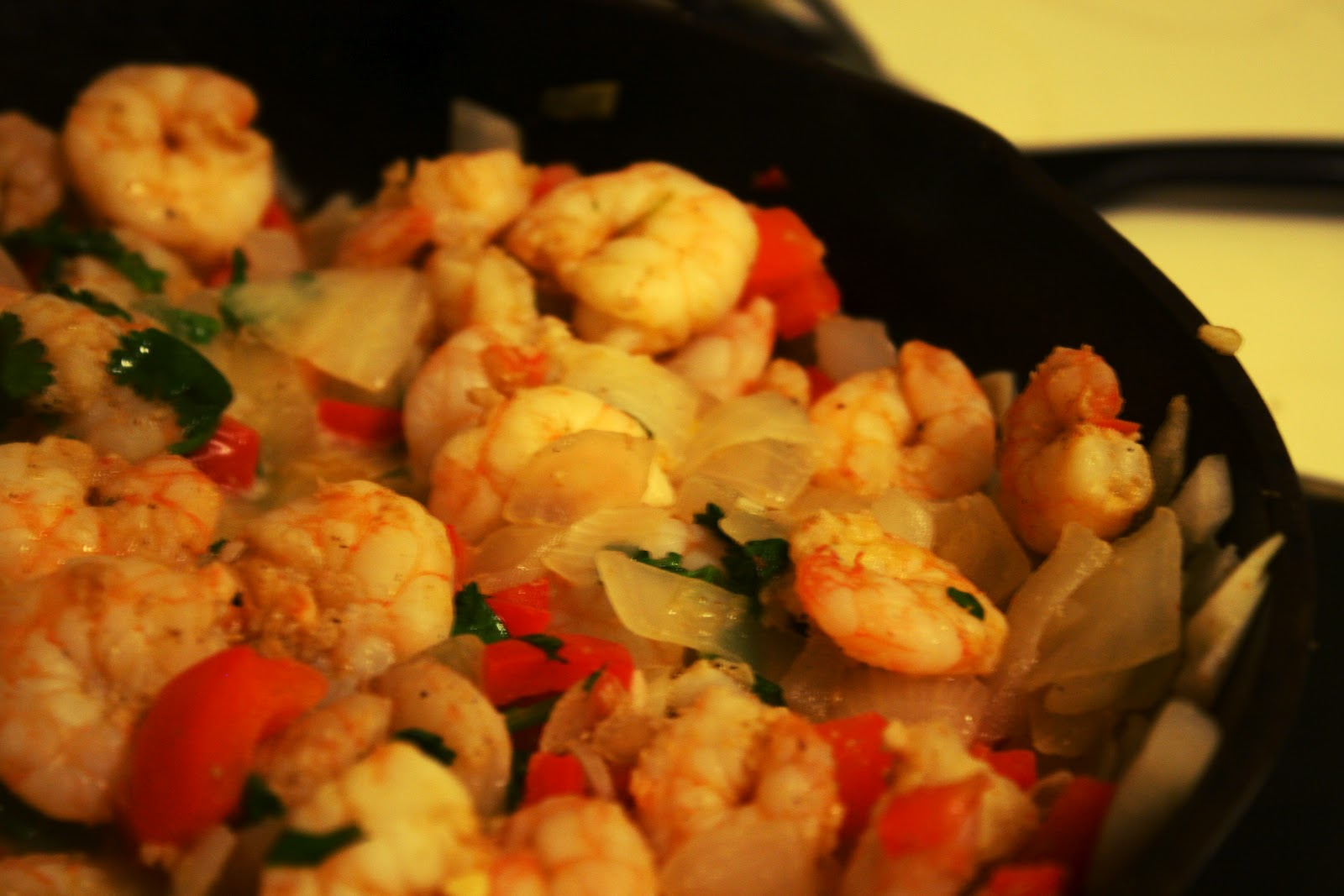 My Weekend's Cooked: Garlic Lime Shrimp over Rigatoni