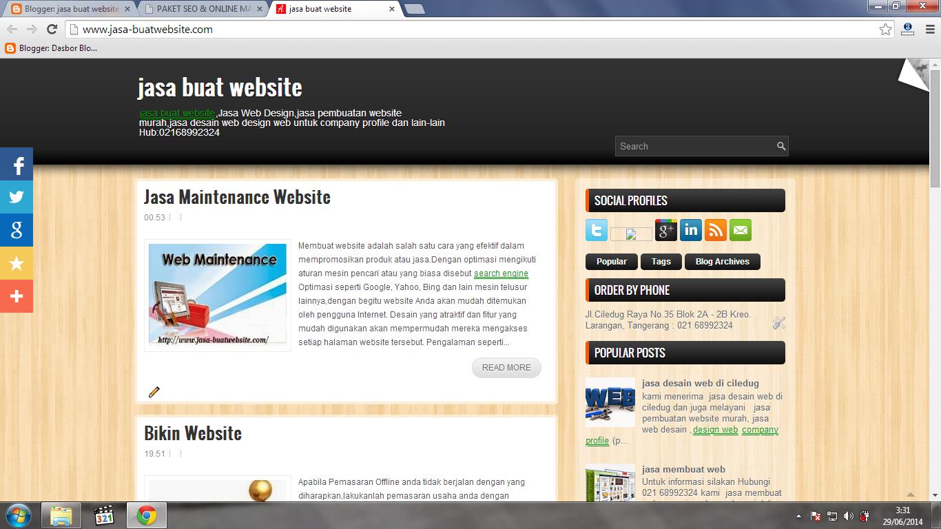 Jasa Agar Web Berada Di Halaman 1