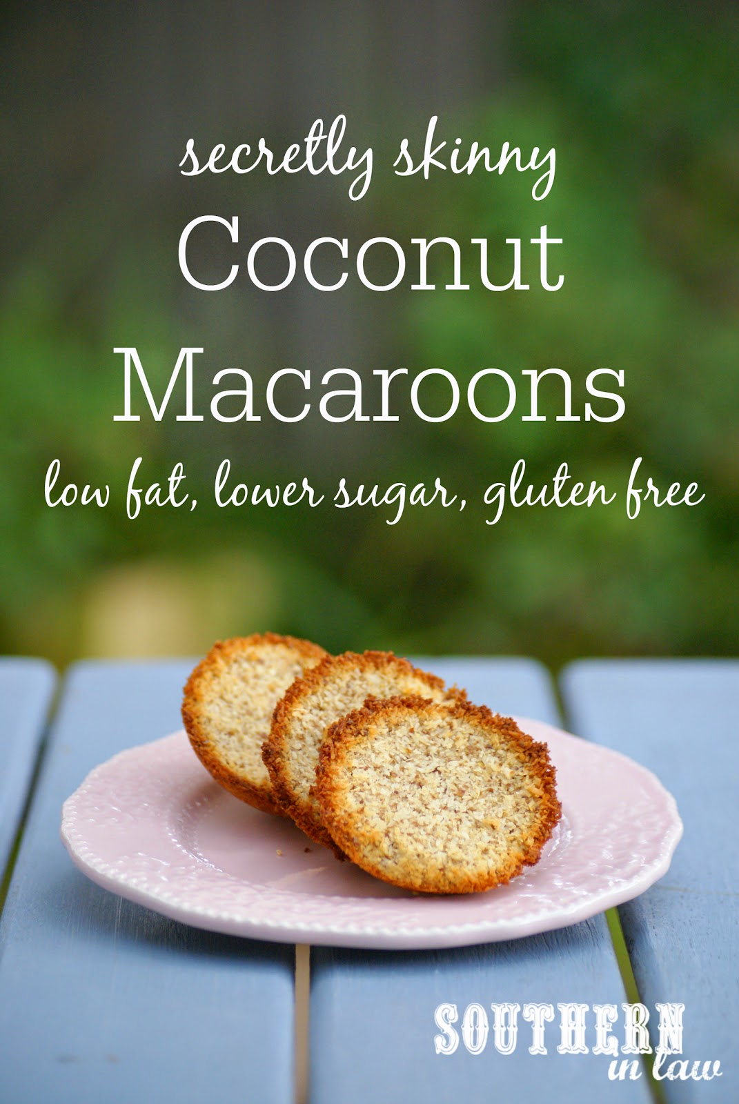Secretly Skinny Gluten Free Coconut Macaroons Recipe - low fat, gluten free, grain free, low sugar, healthy cookie recipe