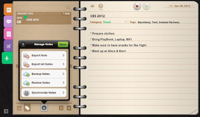 Su BlackBerry PlayBook tiene el potencial de ser mucho más que un dispositivo de entretenimiento personal. Puede ser una herramienta de gran negocio, así como un dispositivo de entretenimiento. Una de estas aplicaciones se encuentra en la sección de destacados de la App World. Se llama Notas Groovy, y hace que tu BlackBerry PlayBook parece un bloc de notas original. El aspecto es realmente una de las razones por las que nos gusta esta aplicación. Claro, el estilo de encuadernación no es más que un efecto visual, pero es agradable al ser de una manera familiar. Me permite saber cuál
