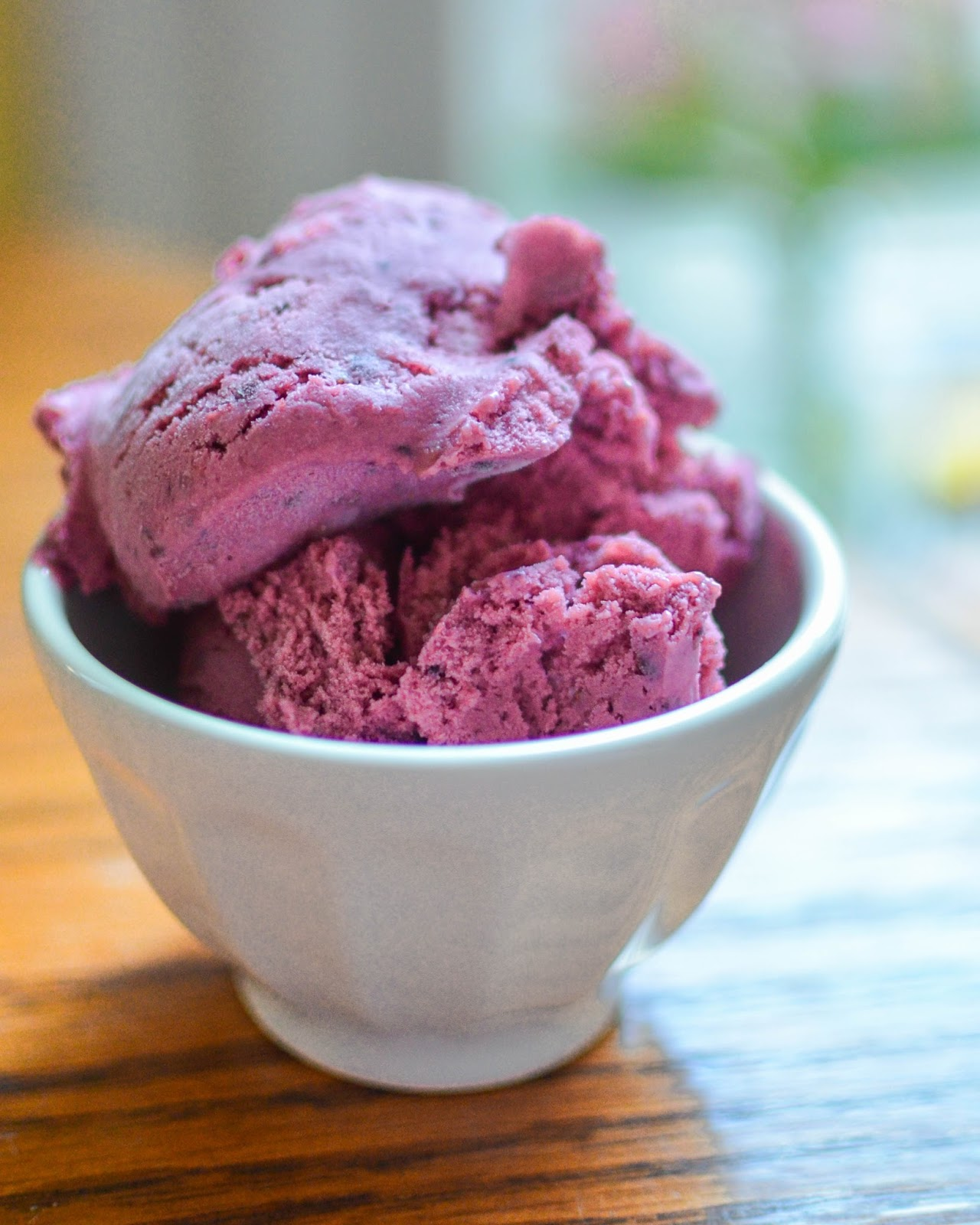 words & whisks: blackberry ice cream