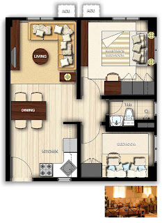 Avida Towers San Lazaro Two Bedroom Unit Plan<