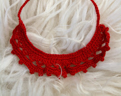 soft bamboo crochet necklace