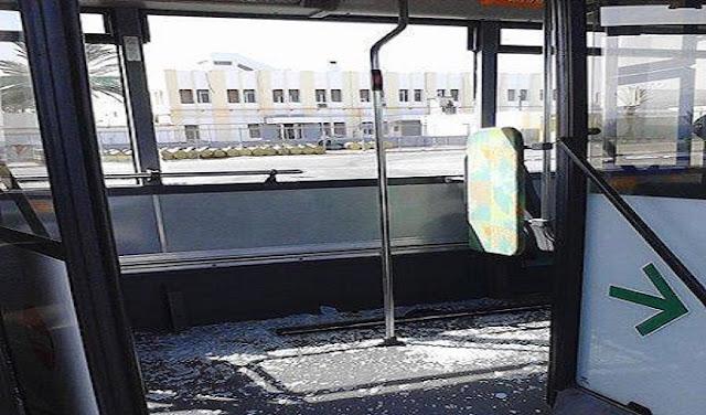 بالصور: هكذا أصبحت الحافلات الفرنسية بعد أقل من أسبوع على التراب التونسي