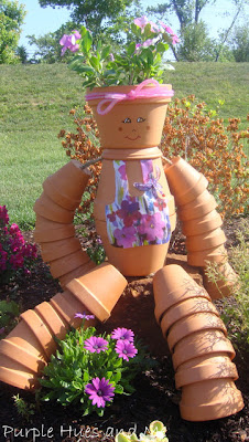 terra cotta flower pot girl