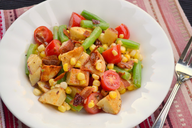 potato green bean and corn salad with chipotle honey vinaigrette recipe