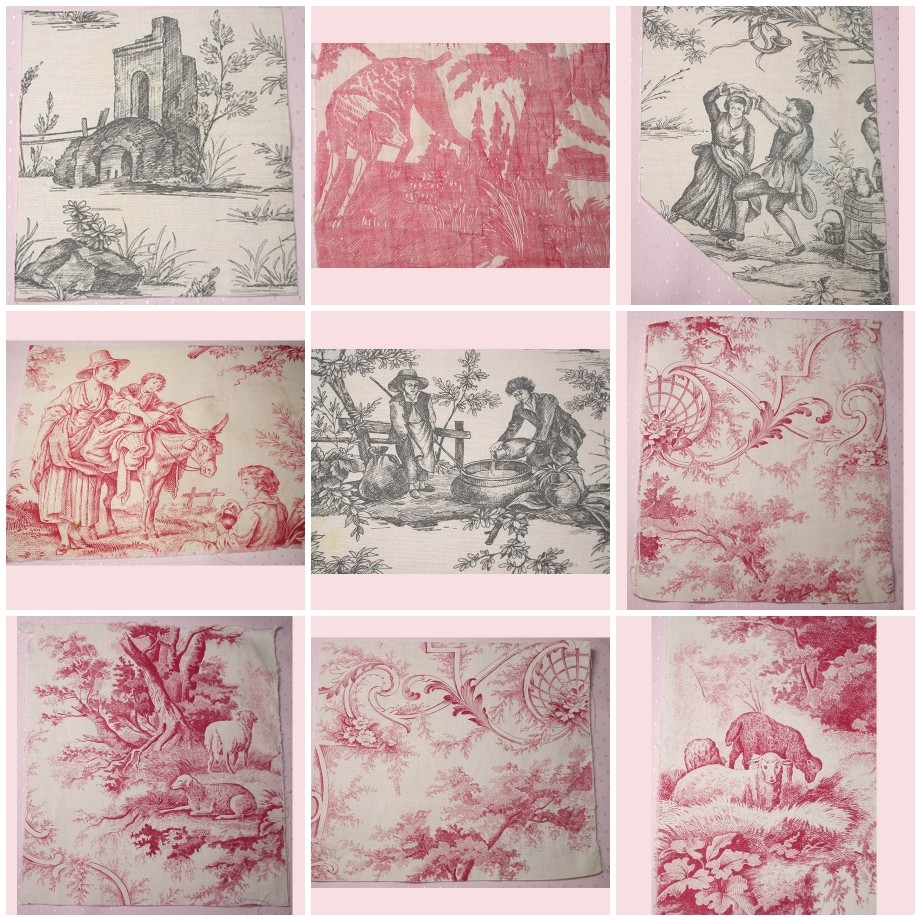 Rag rescue lovely antique and vintage french toile fabric for French toile fabric