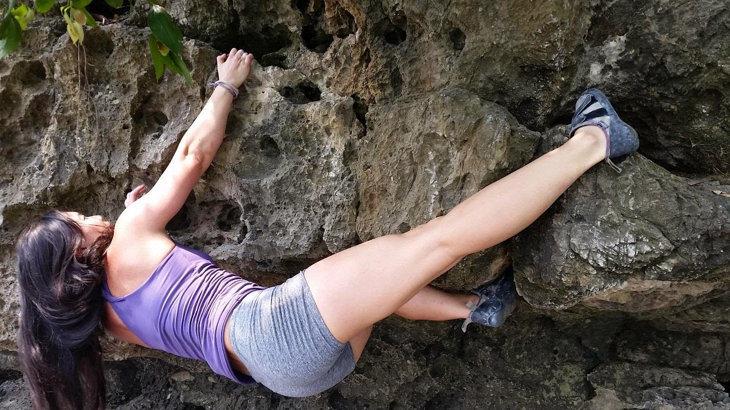 Jeanne on climbing and bouldering in Yangshuo, China
