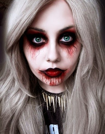 Scary Halloween Make Up Ideas 2014 2015 For Girls Top - Top Halloween Makeup Ideas