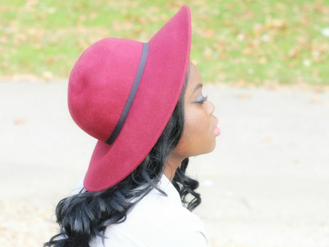 SELECT FASHION BURGUNDY FLOPPY HAT