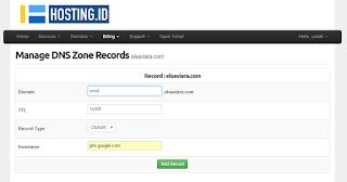 Dasboard hosting Id