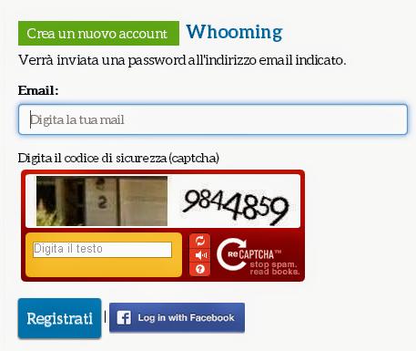 Registrazione - Whooming