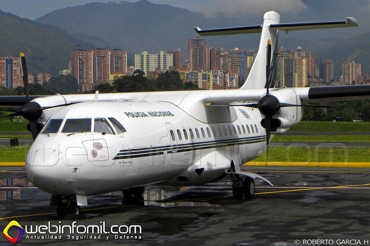 Este ATR-42 con registro PNC0241 fue fabricado en 1986 (Número de serie: 011) y operó anteriormente con las aerolíneas NFD, Eurowings, Eurolot y Airlinair durante 23 años antes de ser recibido por la Policía Nacional de Colombia en noviembre de 2009.