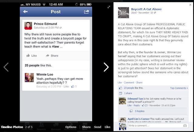 Prince Edmund Winnie Loo in Boycott A Cut Above