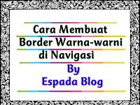 Cara Membuat Border Warna-Warni di Menu Navigasi