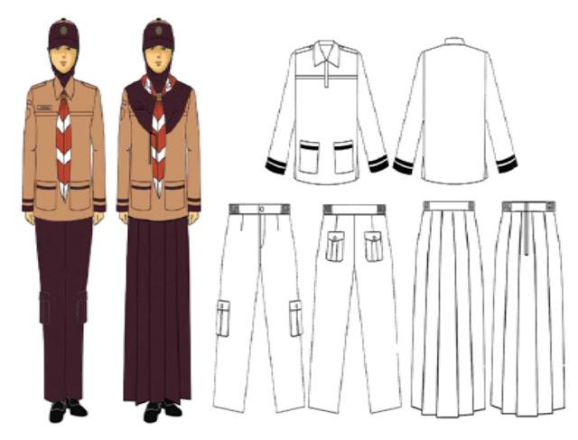 Model seragam untuk siaga putri muslim