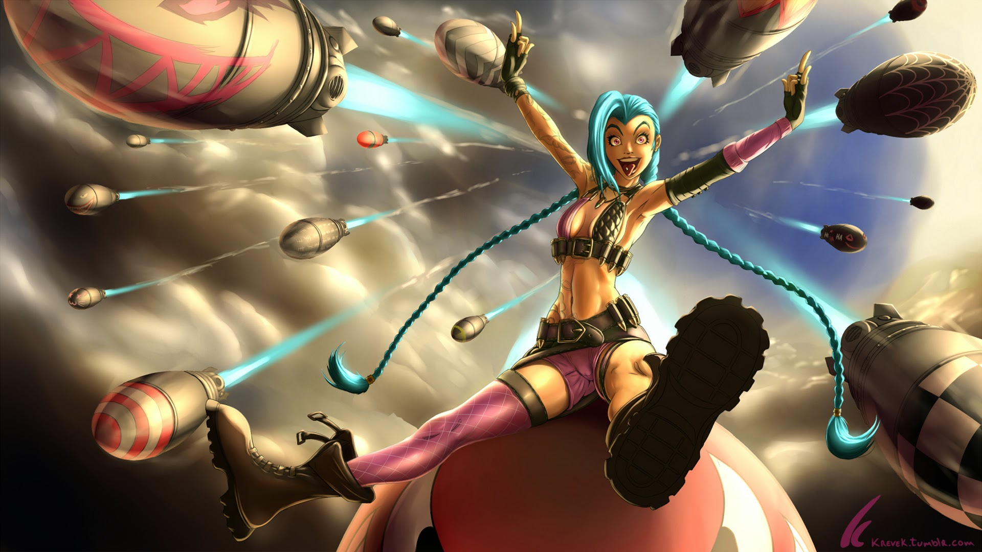 League Of Legends Jinx Wallpaper jinx league of legends hd wallpaper lol girl champion x m