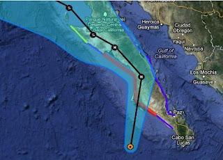 Hurrikan PAUL Baja California, Mexiko: Baldiger Landfall wahrscheinlich, Paul, Baja California, Mexiko, aktuell, Sturmwarnung, Oktober, 2012, Vorhersage Forecast Prognose, Pazifische Hurrikansaison, Hurrikansaison 2012, Radar Doppler Radar,