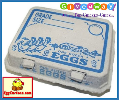 Enter to WIN 25 Vintage Printed pulp egg cartons at www.The-Chicken-Chick.com!