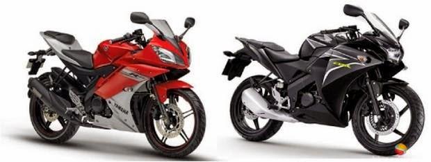 Foto Honda CB150R VS Yamaha R15 Spesifikasi Kelebihan Kekurangan