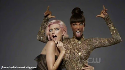 Sophie Sumner and Tyra Banks