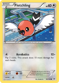 Fletchling Roaring Skies Pokemon Card
