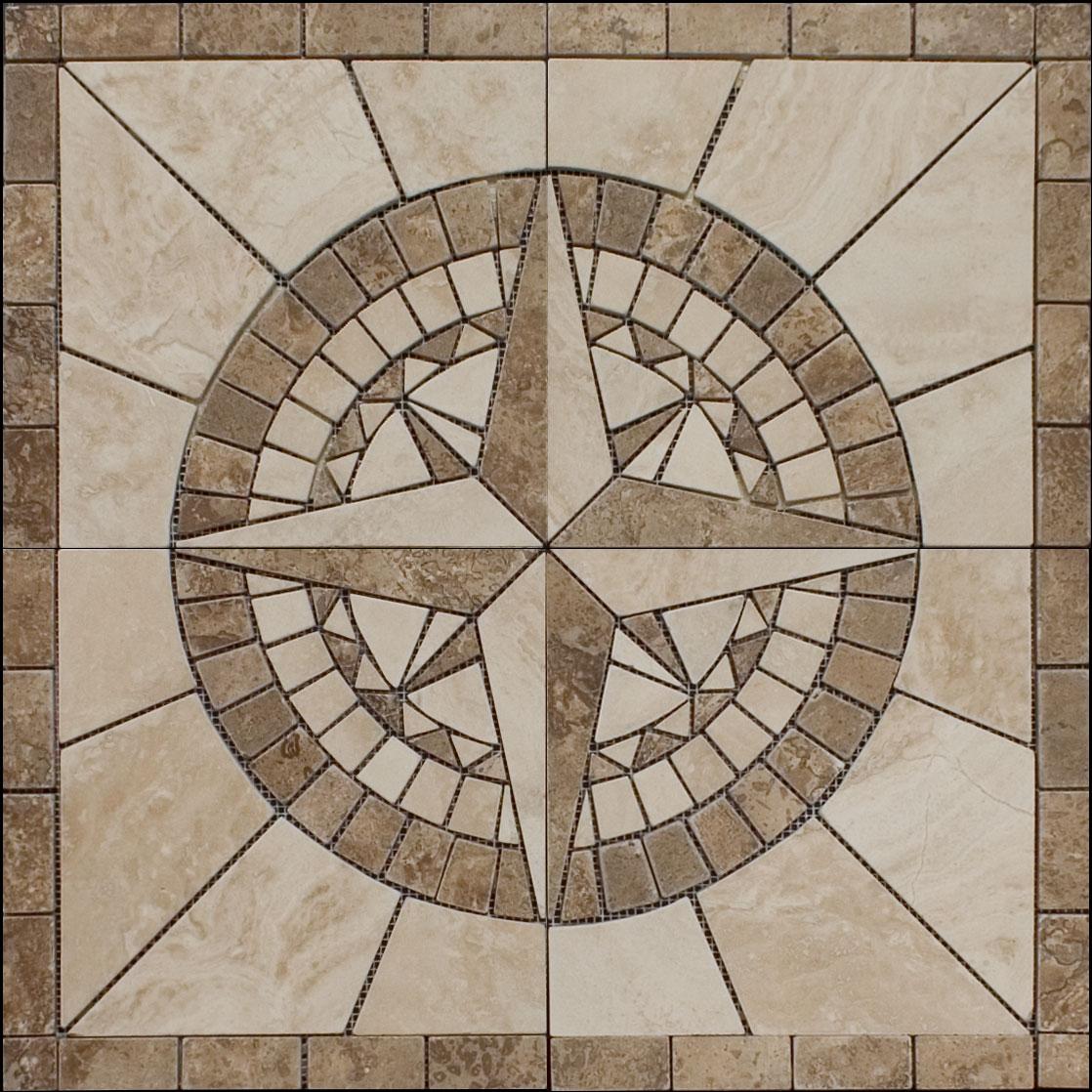 Medallion floor tile