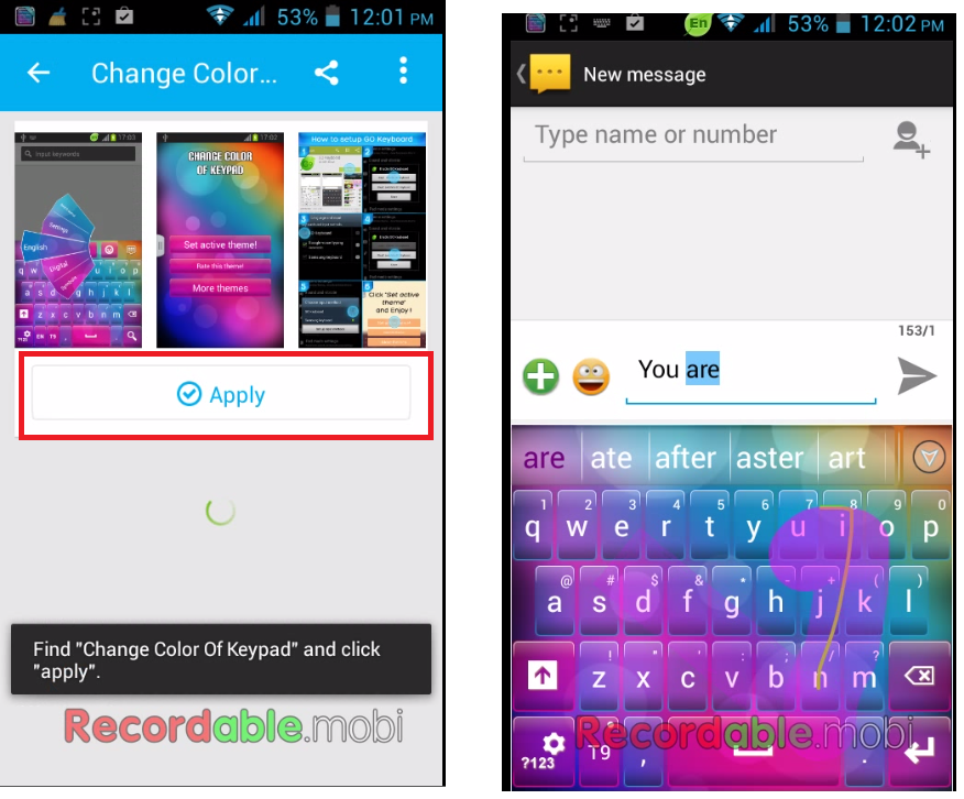 Make Your Normal Keyboard to Colourfull & Swipe