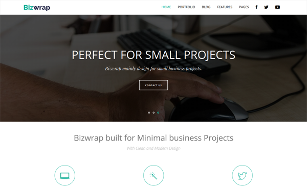 boostrap theme  download bizwrap