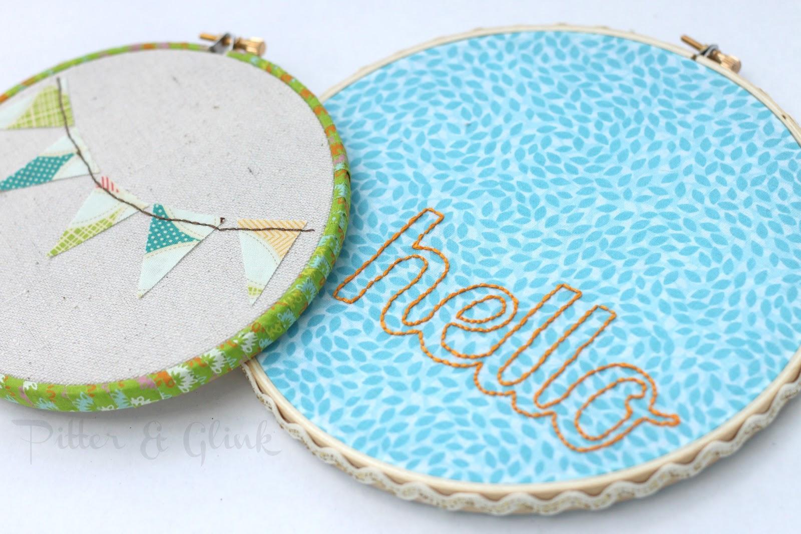 Pitterandglink embroidery hoop art