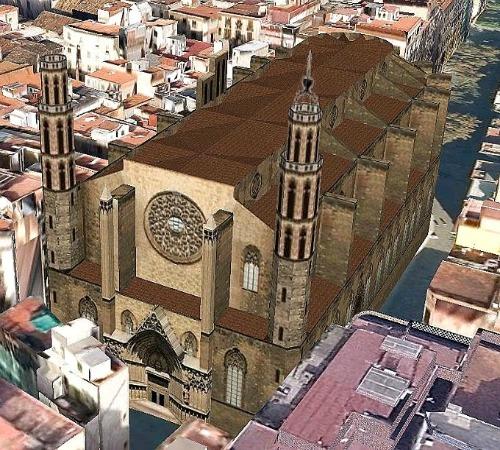 BASILICA DE SANTA MARIA DEL MAR (BARCELONA) 3D