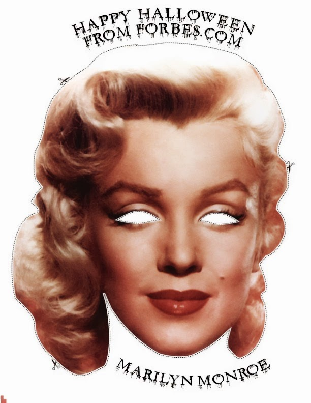 Marilyn Monroe Free Printable Mask.