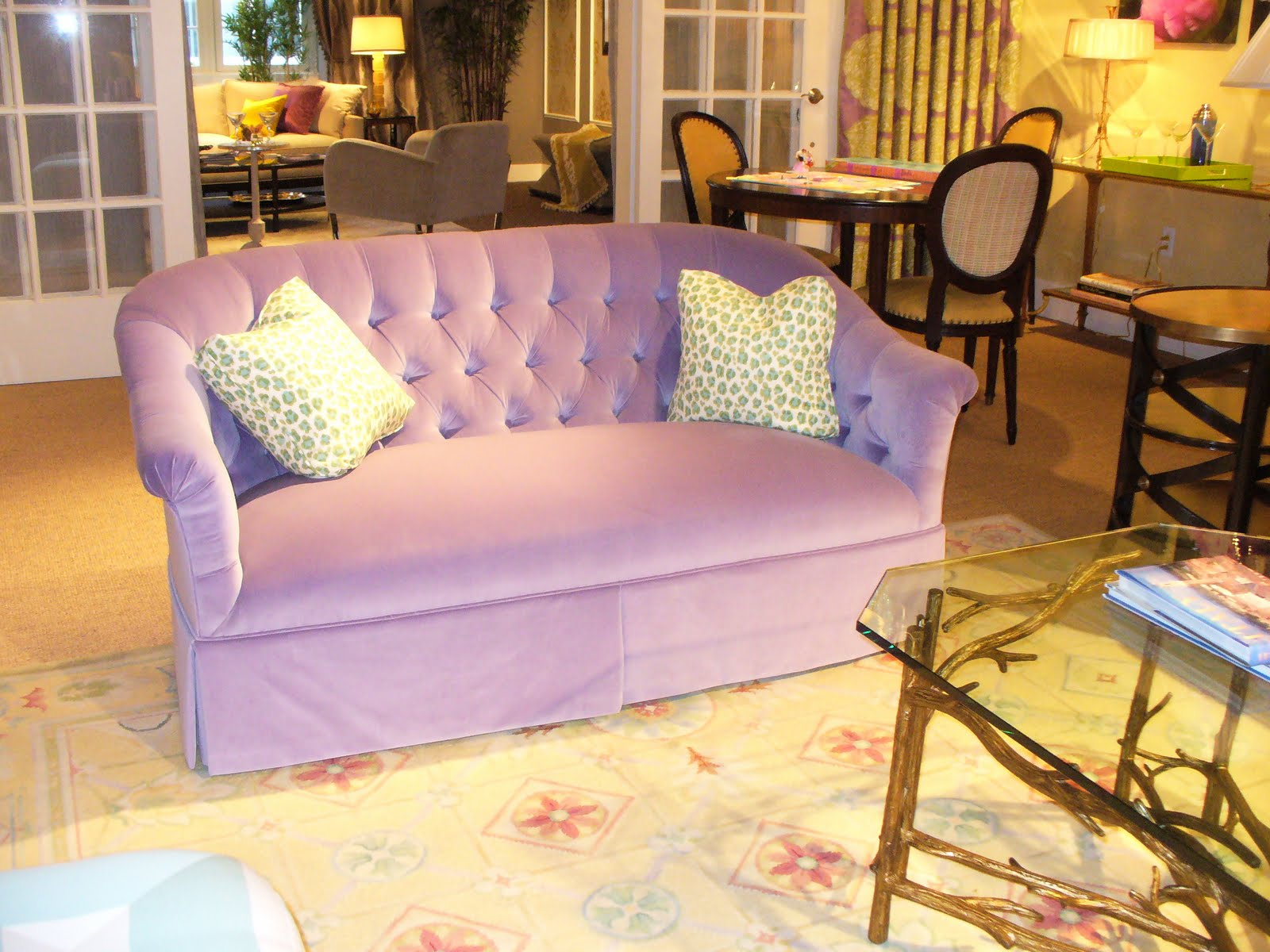 My notting hill blog - The Design Center S Dream Home Is Open Through Dec 9 Here S A Pic Of Susan Nelson S Pretty And Colorful Living Room